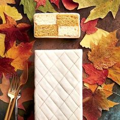 A Battenberg cake has two flavors of sponge cake with a layer of jam wrapped up in a thin layer of marzipan, like a present. When cut, the layers look like a two-colored checkered pattern. Pumpkin Spice Battenberg | Southern Living