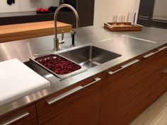 Stainless steel kitchen counter top