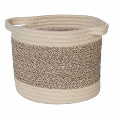 Storage Basket Essentials Small 9 x 7 Inch Cotton Rope #HomeDecorShops Discount Home Decor, Home Decor Outlet, Home Decor Signs, Home Wall Decor, New Home Essentials, Rope Basket, Home Decor Paintings, Home Decor Fabric, Cotton Rope