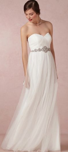 Beautiful elegant wedding gown @BHLDN