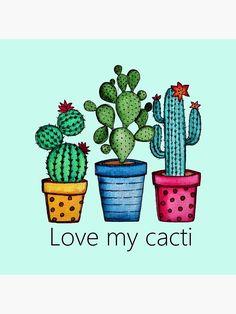 Cactus Drawing, Cactus Painting, Watercolor Cactus, Cactus Art, Cactus Plants, Watercolor Paintings, Painted Rock Cactus, Painted Rocks, Rock Art