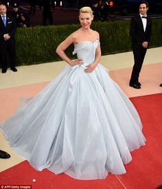 This dress! Sparkle and shine! Claire Danes had a Cinderella moment in a fiber-optic Zac Posen dress at the Met Gala in New York City on Monday