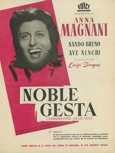 """Noble gesta (1947) """"L'onorevole Angelina"""" de Luigi Zampa - tt0039682"""