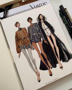 Illustration Mode, Fashion Illustration Sketches, Fashion Sketches, Fashion Design Sketchbook, Fashion Design Portfolio, Mode Portfolio Layout, Croquis Fashion, Arte Sketchbook, Fashion Studio