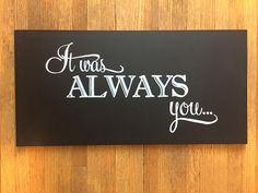 Custom wedding decor chalkboard art by Chalkboards & Company