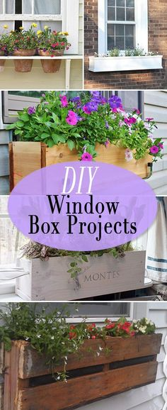 DIY Window Box Projects • Tutorials and ideas for bumping up that curb appeal, on a budget! #diygardenprojectsbudgetbackyard
