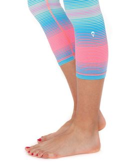 Ivivva leggings! Pink and blue! Really nice.