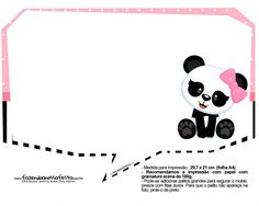 Plaquinhas para Festa Panda Menina 33 - Fazendo a Nossa Festa Fitness Planner, Ideas, Character, Panda Themed Party, Panda Birthday Party, Ideas Party, Panda Decorations, Party, Tags