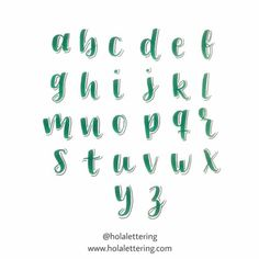 Lettering Guide, Bullet Journal Lettering Ideas, Journal Fonts, Bullet Journal Writing, Bullet Journal School, Bullet Journal Ideas Pages, Brush Lettering, Hand Lettering Alphabet, Calligraphy Letters