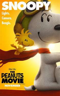 PIPOCA COM BACON I Aprenda a Desenhar: Snoopy & Charlie Brown - Peanuts, O FIlme I #PipocaComBacon I The_Peanuts_Movie_Snoopy_and_Woodstock_poster