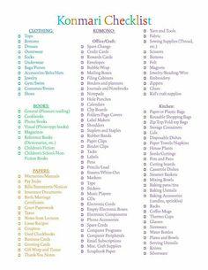 The super serious mega detailed konmari list of things