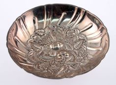 Sterling Silver Small Footed Bon Bon Serving Dish Bowl Repousse S Kirk & Son