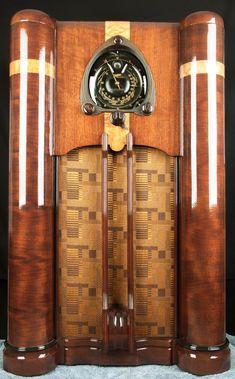 Zenith 1938 9 Tube Shutter Dial Vacuum Tube Console Radio- RESTORED, working!! | eBay