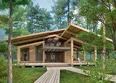 Hampton House - проект современного дома в стиле хай-тек. Архитектурное бюро Романа Леонидова