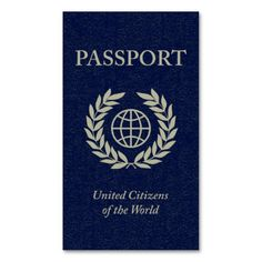 passport business card templates