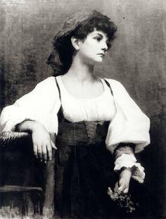 Anna Bilińska-Bohdanowicz (Polish painter) 1857 - 1893 Italian Woman, 1880s oil on canvas 91 x 72 cm. (35.8 x 28.3 in.) signed: Anna Bilińska / Paryż missing