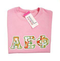 Sorority Sweatshirt, Sorority Letters