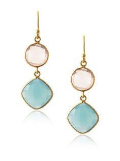 Suri Gems Chalcedony Drop Earrings