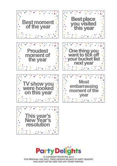 2016 is almost at an end! Look back on the best moments of the year with our free printable New Year's Eve party game. 2016 is almost at an end! Look back on the best moments of the year with our free printable New Year's Eve party game. New Years Eve Games, Kids New Years Eve, New Years Eve Dinner, New Years Eve Party, Free Games For Kids, Kids Party Games, New Year's Eve Celebrations, New Year Celebration, New Year Printables