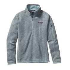 The Patagonia Women's Better Sweater® Quarter Zip fleece - in GRAY