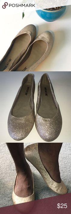 🎉HP🎉Light Gold/Silver Sparkly Flats These light gold/silver sparkly flats are perfect for any occasion and will get tons of compliments! They come in a size 9 and have been worn once or twice. Let me know if you're interested! Lower East Side Shoes Flats & Loafers