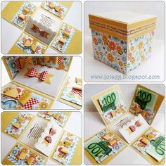 Pudełko na prezent pieniężny Exploding Boxes, Explosion Box, Mini Albums, Decorative Boxes, Scrap, Handmade, Diy, Crates, Cards