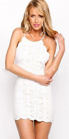 33cf93bbcd7 Sexy Crossover Backless Slim Fit Sling Lace Dress