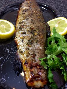 Honey & Thyme Whole Grilled Trout Recipe — Foods from Africa