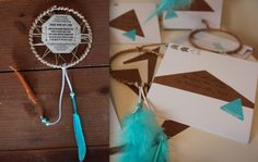 dreamcatcher invites & envelopes concepted & produced by julia lake parties! www.julialake.com  cowboys & indians party