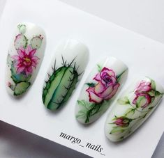 Great Photographs Toe Nail Art cactus Suggestions Frequently when we expect regarding ft, we feel they can be soiled and definitely not the most beaut Toe Nail Art, Toe Nails, Acrylic Nails, Violet Pastel, Nailart, Water Color Nails, Cute Nail Art Designs, Flower Nail Art, Pretty Nail Art
