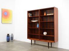 mid century danish modern brazilian rosewood poul hundevad bookcase shelf