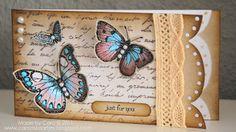 C@ro's kaartjes: Butterflies