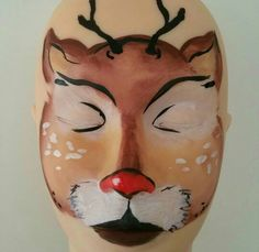 Face paint Reindeer Face Paint, Painting, Painting Art, Paintings, Drawings