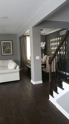 Dark Wood Floors Living Room Grey Walls Ideas For 2019 Dark Wood Floors Living Room, Grey Hardwood Floors, Diy Wood Floors, Dark Hardwood, Living Room Grey, Wood Walls, Living Rooms, Wood Wood, Gray Wood Flooring