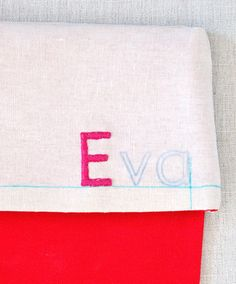 Simple Embroidered Stockings - the purl bee -- with reverse alphabet link
