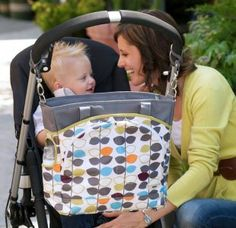 JJ Cole Mode Mixed Leaf Baby Bag, able to hang on your shoulder & on the stroller