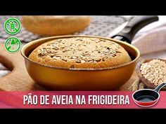 PÃO DE AVEIA NA FRIGIDEIRA - YouTube Crepes, Waffles, Low Carb, Gluten, Pasta, Healthy Recipes, Cooking, Breakfast, Lactose