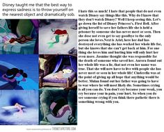 Not a single one of the Disney Princesses is weak, they all have a certain strength that is theirs specifically. I agree with this person, crying does not make a person weak in the slightest.