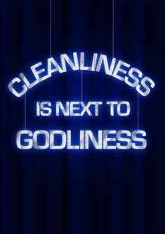 We have to clean ourselves with the power of the Holy Spirit to be godly. Are you?