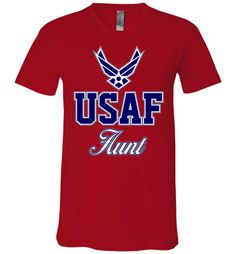 U.S. Air Force Aunt Unisex V-Neck T-Shirt