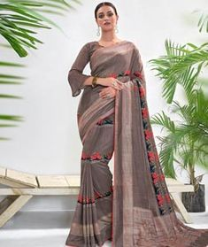 Chanderi Silk Saree Chanderi Silk Saree, Silk Sarees, Long Cut, Spring Sale, Blouse Online, How To Dye Fabric, Color Shades, Festival Wear, Head To Toe