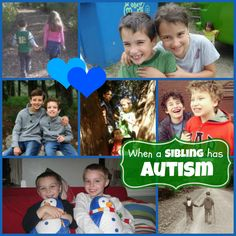 When a sibling has #Autism - a collection of insights from families. For more siblings pins, follow @Connecting for Kids