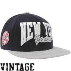 a3c51aa5474 New Era New York Yankees Navy Blue-Silver 9FIFTY Corduroy Snapback  Adjustable Hat Yankees Hat