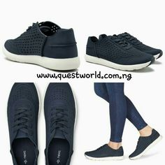 Navy perforated next trainers size 7/41 #14000 www.questworld.com.ng Nationwide Delivery Pay on delivery in lagos