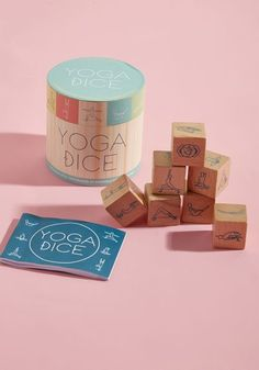 Yoga Dice - Shake up your repertoire of poses with this wooden dice set - literally! A fun way to challenge your yoga prowess, this cannister from Chronicle Books contains seven wooden tiles - one for each chakra - that represent seated, standing, balancing, and twisted poses. Who knows what the dice will hold, other than an excellent workout!