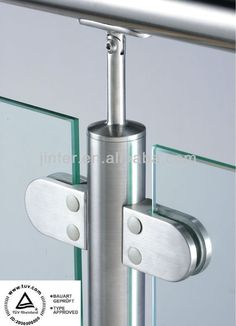 Source Stainless steel Glass Railing Systems, Glass handrail system, Stainless S. - house and flat decorations Glass Handrail, Glass Railing System, Steel Handrail, Steel Stairs, Glass Balustrade, Balcony Glass Design, Glass Balcony Railing, Balcony Railing Design, Glass Stairs