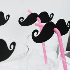 Mustache Straws: Pinner~Made these for a new year's eve party. Big hit and easy. (Picture only) love!
