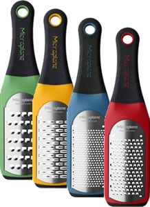 Microplane's new Artisan series of graters now comes in pretty colors!  if I didn't have five Microplanes in the house already, I would seriously consider this set.  $35.75