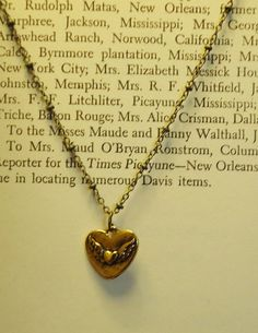 Heart to Heart Necklace brushed gunmetal brass heart by charm1966, $20.00
