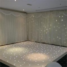 Starlight dance floor available in white or black with LED lightinging